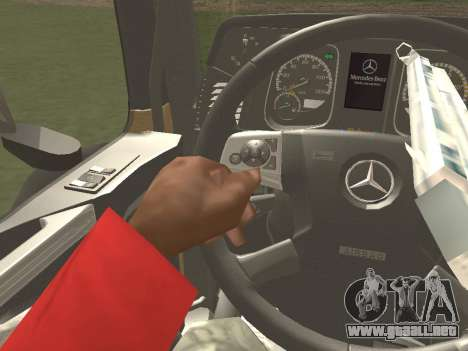 Mercedes-Benz Actros Mp4 4x2 v2.0 Gigaspace para visión interna GTA San Andreas