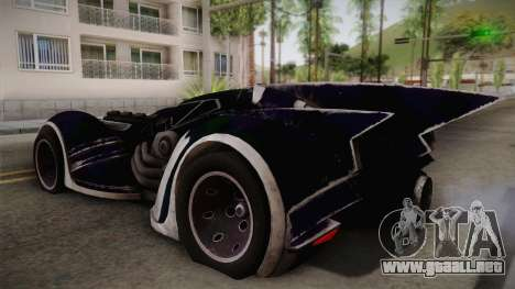 Batman Arkham Asylum Batmobile para GTA San Andreas left