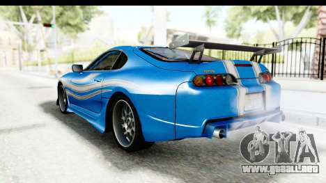 NFS: Carbon Darius Toyota Supra Updated para GTA San Andreas left
