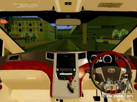 Toyota Alphard Taxi Silver Bird para la visión correcta GTA San Andreas
