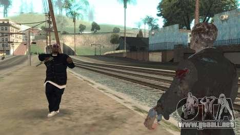 Zombie from Black Ops 3 para GTA San Andreas quinta pantalla