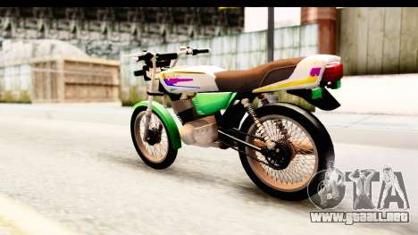 Yamaha RX115 Colombia para GTA San Andreas left
