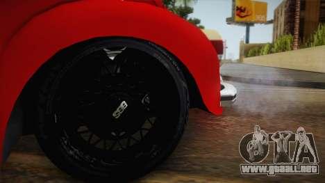 Volkswagen Beetle Escarabajo para GTA San Andreas vista hacia atrás