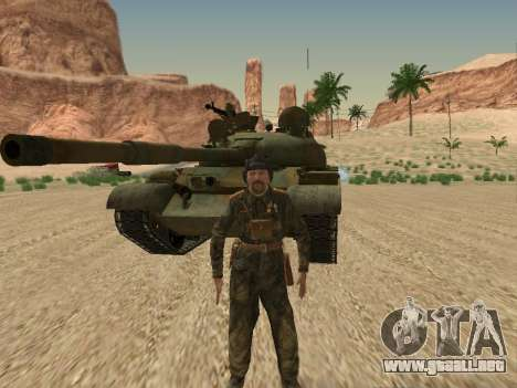 T-62 para la vista superior GTA San Andreas