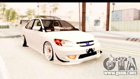 Honda Civic Vtec 2 Berkay Aksoy Tuning para GTA San Andreas vista posterior izquierda