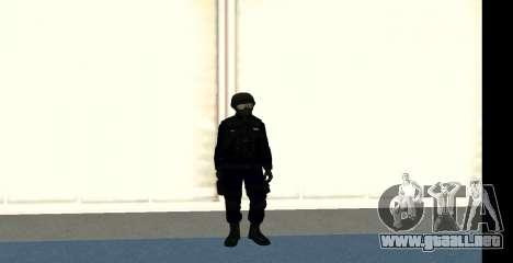 GTA 5 FIB SWAT Blue para GTA San Andreas sucesivamente de pantalla