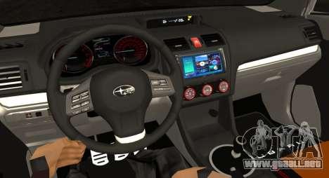Subaru WRX STI LP400 2016 para visión interna GTA San Andreas