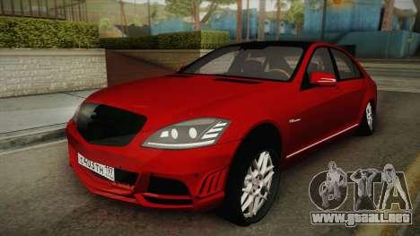 Mercedes-Benz W221 S65 Stance v2 para GTA San Andreas