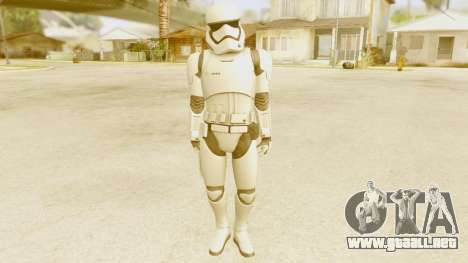 Star Wars Ep 7 First Order Trooper para GTA San Andreas segunda pantalla