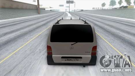 Mercedes-Benz Vito para GTA San Andreas vista hacia atrás