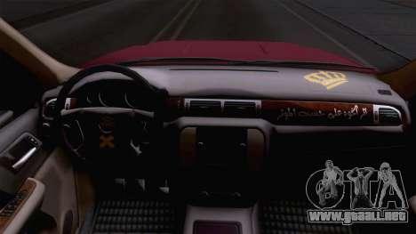 GMC Sierra 2015 para GTA San Andreas vista hacia atrás