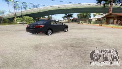 Toyota Corolla 2014 HQLM para GTA San Andreas left