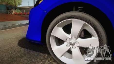 Toyota Camry 2013 para GTA San Andreas vista hacia atrás