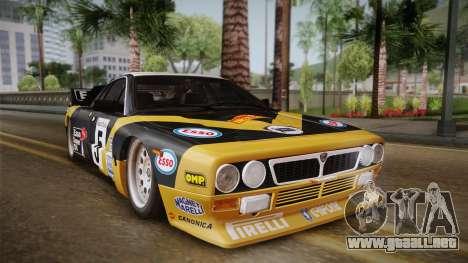 Lancia Rally 037 Stradale (SE037) 1982 IVF PJ2 para GTA San Andreas vista posterior izquierda