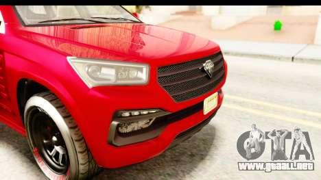 GTA 5 Benefactor XLS Armored IVF para GTA San Andreas interior