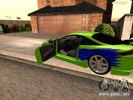Mitsubishi Eclipse The Fast and the Furious para GTA San Andreas left