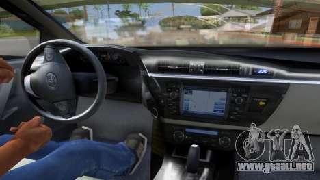 Toyota Corolla 2014 HQLM para GTA San Andreas vista posterior izquierda