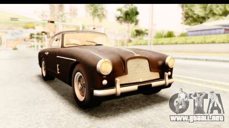 Aston Martin DB2 Mk II 39 1955 para GTA San Andreas vista posterior izquierda