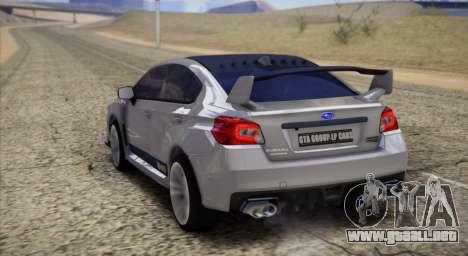 Subaru WRX STI LP400 2016 para GTA San Andreas vista posterior izquierda