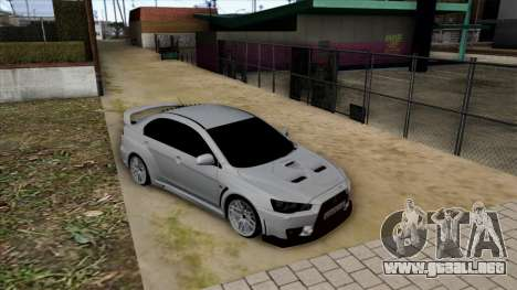 Mitsubishi Lancer Evolution X para vista lateral GTA San Andreas