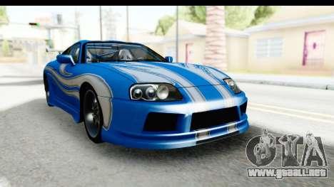 NFS: Carbon Darius Toyota Supra Updated para la visión correcta GTA San Andreas