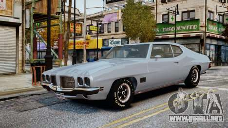Pontiac LeMans Coupe 1971 para GTA 4 vista lateral