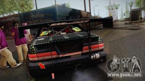 D1GP Toyota Mark II Sunoco Monster para GTA San Andreas vista hacia atrás