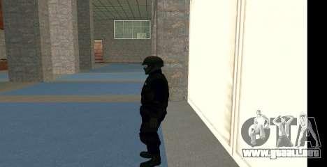 GTA 5 FIB SWAT Blue para GTA San Andreas tercera pantalla