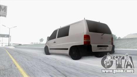 Mercedes-Benz Vito para la vista superior GTA San Andreas