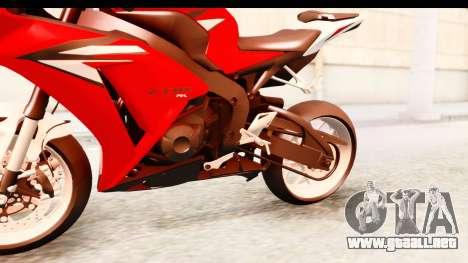 Honda CBR1000RR 2012 para visión interna GTA San Andreas