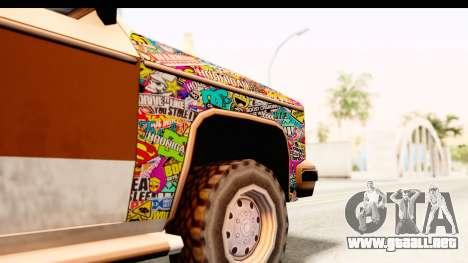 Rancher Sticker Bomb para GTA San Andreas vista hacia atrás
