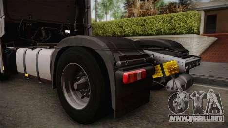 Mercedes-Benz Actros Mp4 4x2 v2.0 Steamspace v2 para la visión correcta GTA San Andreas