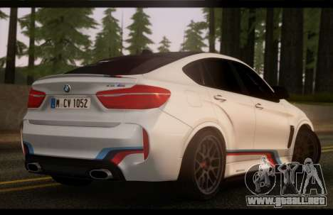 BMW X6M PML ED para GTA San Andreas left