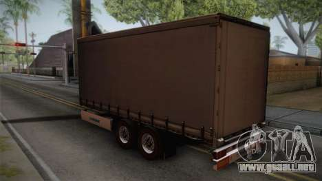 Mercedes-Benz Actros Mp4 v2.0 Tandem Trailer para GTA San Andreas left