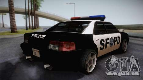 Sultan SFPD para GTA San Andreas left