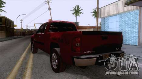 GMC Sierra 2015 para GTA San Andreas vista posterior izquierda