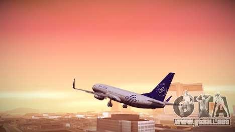 Boeing 737-800 Korean Air Skyteam para GTA San Andreas left