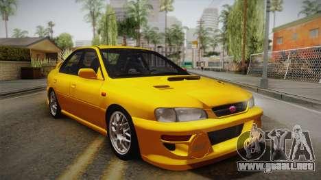Subaru Impreza WRX STI GC8 1999 v1.0 para visión interna GTA San Andreas
