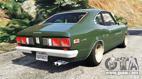 GTA 5 Mazda RX-3 1973 [add-on] vista lateral izquierda trasera