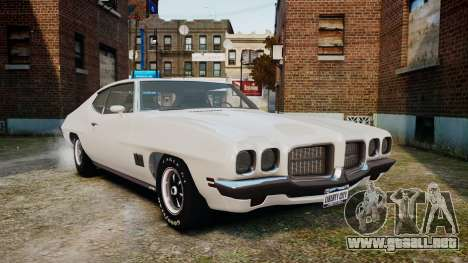 Pontiac LeMans Coupe 1971 para GTA 4 left