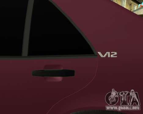 Mercedes S-600 Armenian para visión interna GTA San Andreas