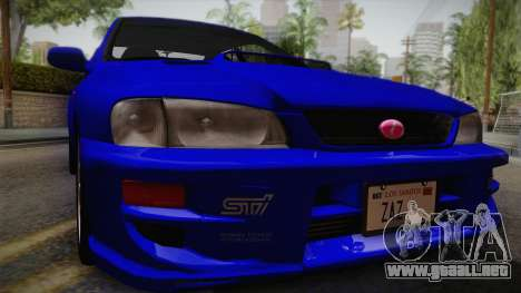 Subaru Impreza WRX STI GC8 1999 v1.0 para la visión correcta GTA San Andreas