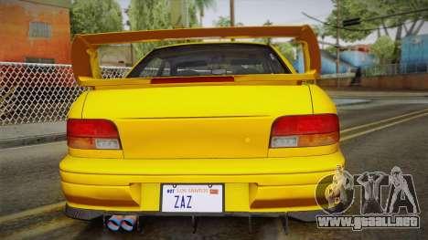 Subaru Impreza WRX STI GC8 1999 v1.0 para vista inferior GTA San Andreas