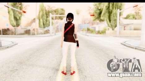 Mirrors Edge Catalyst Faith para GTA San Andreas tercera pantalla