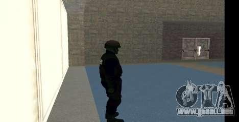 GTA 5 FIB SWAT Blue para GTA San Andreas quinta pantalla