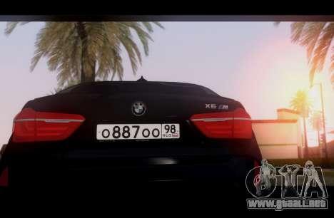 BMW X6M BULKIN ED. para la visión correcta GTA San Andreas