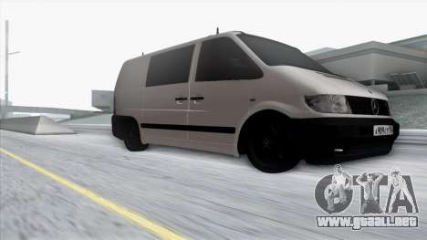 Mercedes-Benz Vito para vista lateral GTA San Andreas