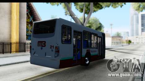 Metrobus de la Ciudad de Mexico Trailer para GTA San Andreas vista posterior izquierda