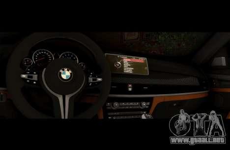 BMW X6M BULKIN ED. para visión interna GTA San Andreas