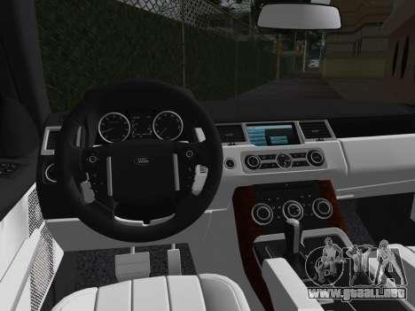 Range Rover Sport HSE (Rims 1) v2.0 para GTA Vice City vista interior